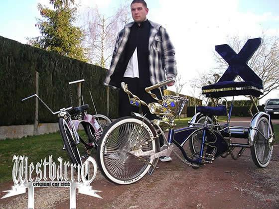 Lowrider Bicycle Custom Siège avec miroirs